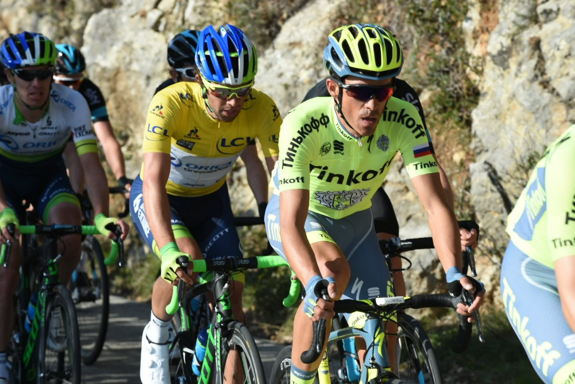 Parigi Nizza 2016 - 6a tappa Nice - La Madone dÕUtelle 177 km - 12/03/2016 - Alberto Contador (Tinkoff) - foto Graham Watson/BettiniPhoto©2016