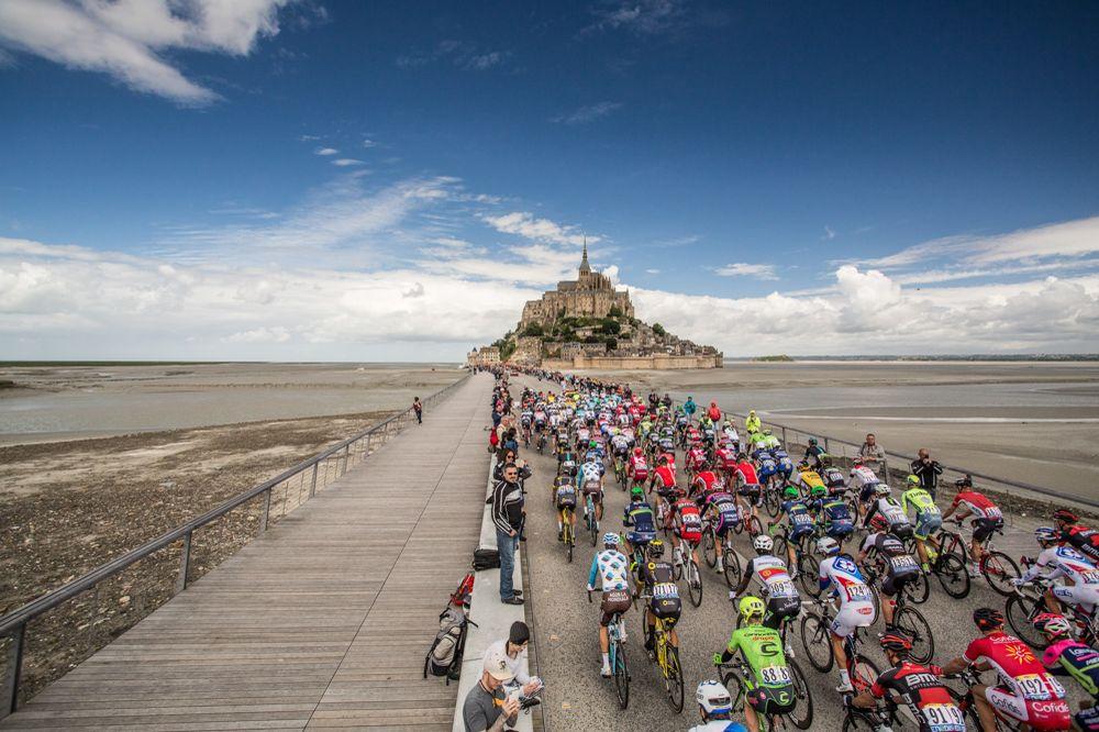 Tour de France 2016 - 02/07/2016 - Grand départ - Mont-Saint-Michel/ Utah Beach Sainte-Marie-du-Mont (188km) - Départ du Mont-Saint-Michel