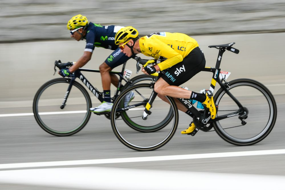 Tour de France 2016 - 09/07/2016 - Etape 10 - Escaldes-Engordany/ Revel (197 km) - Ο FROOME Christopher (TEAM SKY) δεν άφησε στιγμή από τα μάτια του τον QUINTANA Nairo Alexander (MOVISTAR TEAM)