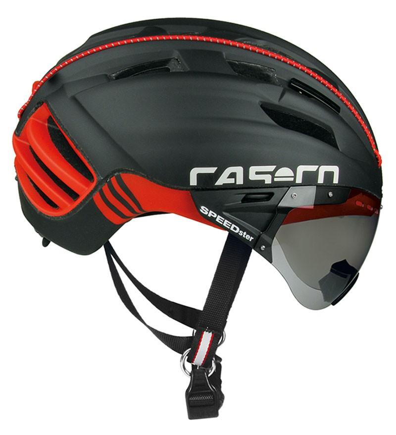 Το κράνος Speedster TC Plus της Casco διακρίνεται για την υψηλή αεροδυναμική του απόδοση. Διαθέτει ενσωματωμένη μάσκα.
