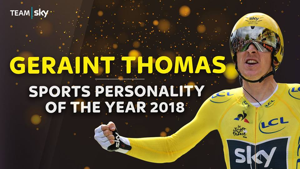 Geraint Thomas Sports Personality of the Year 2018