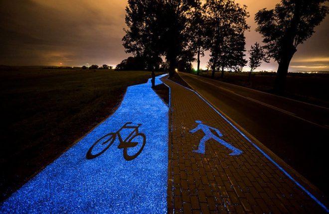 ποδηλατόδρομος που φωσφορίζει